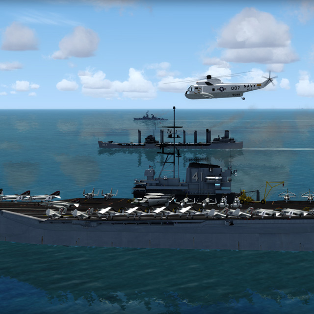 Simworks Studios Midway Aircraft Carrier - prepar3d and fsx - Flight Simulator Software