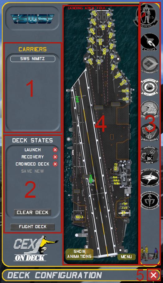 Deck configuration gauge layout